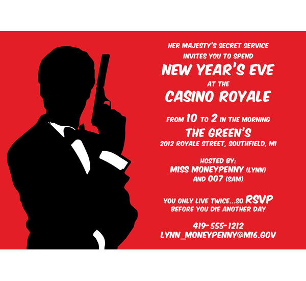 Casino Royale Invitation