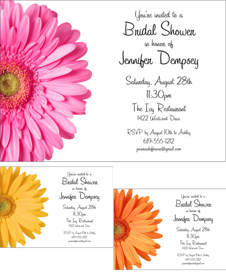 Daisy Theme Invitation