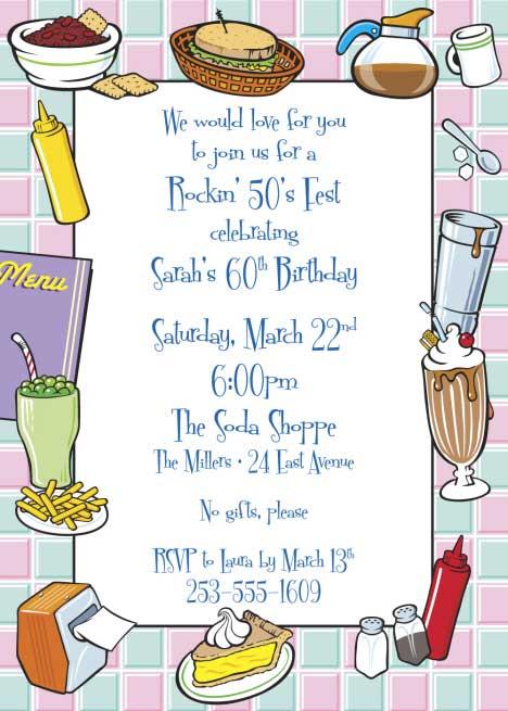 50s Diner Invitation