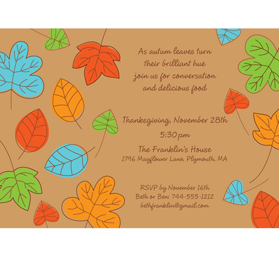Falling Leaves Invitation