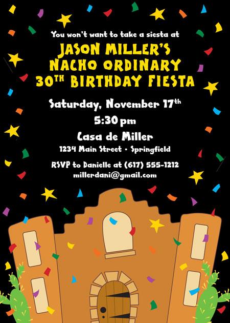 A Fiesta Bash Invitation
