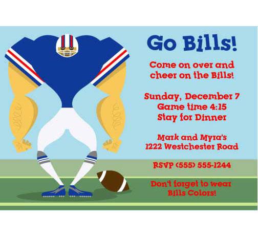 Buffalo Bills Party Invitation