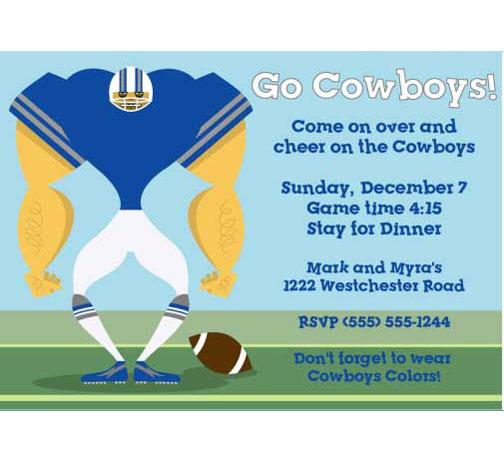Dallas Cowboys Party Invitation