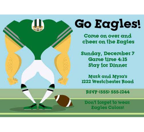 Philadelphia Eagles Party Invitation