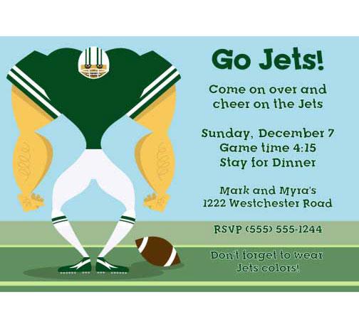 New York Jets Party Invitation