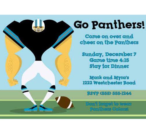 Carolina Panthers Party Invitation