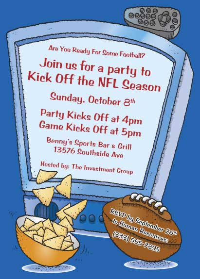 Football Kick Off Invitation