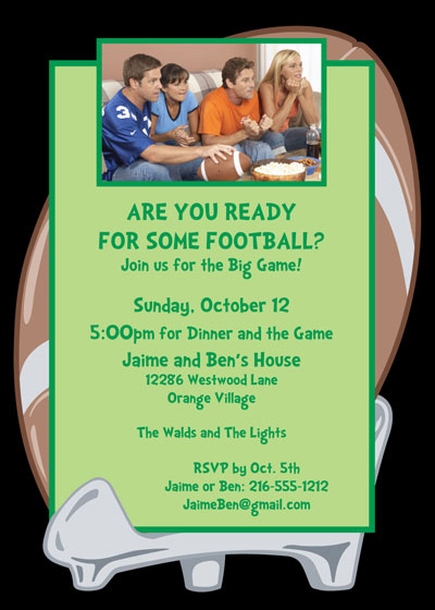 Football Photo Party Invitation