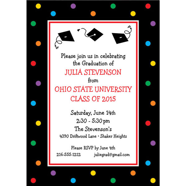 Graduation Dots Invitation