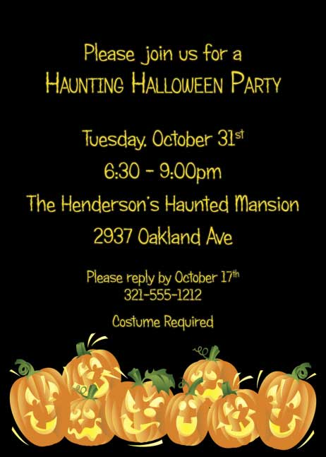 Halloween Fun Pumpkins Invitation