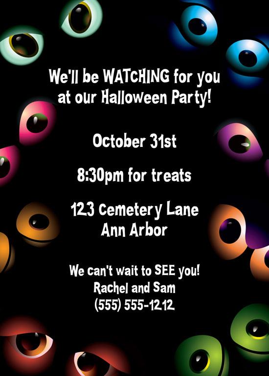 Halloween Eyes Invitation