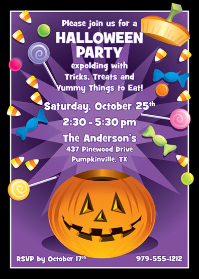Halloween Pumpkin Fun Invitation