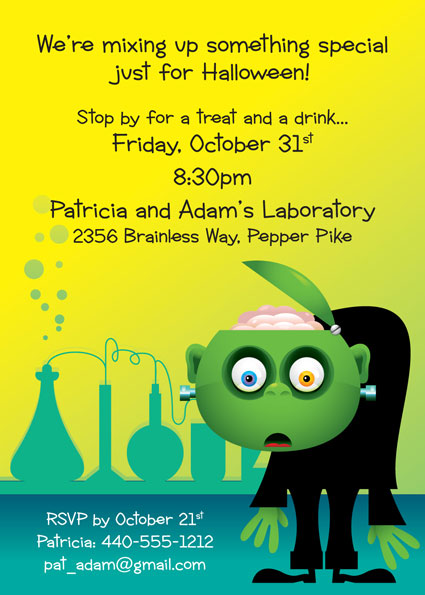 Halloween Lab Invitation