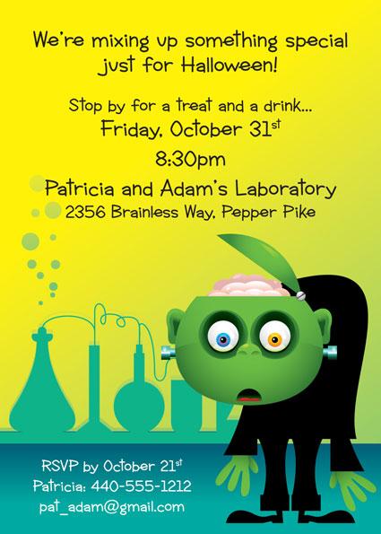 Halloween Lab Invitation