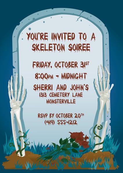 Halloween Grave Invitation