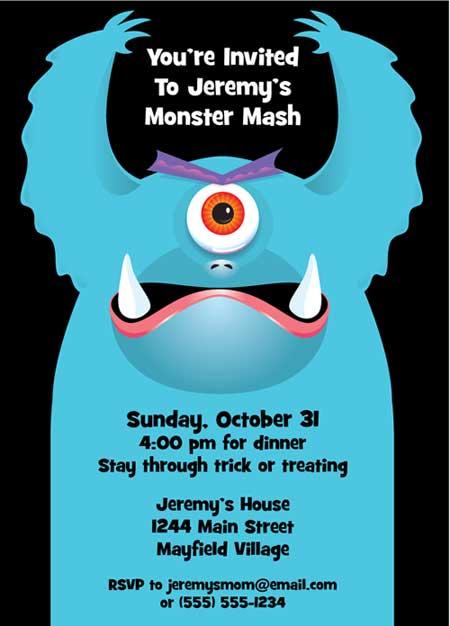 Halloween Monsters Invitation
