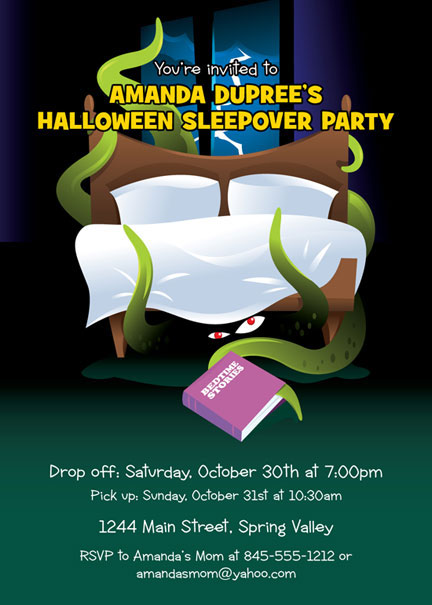 Halloween Sleepover Invitation