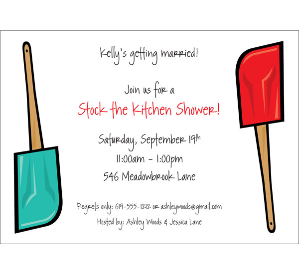 Bridal Shower Kitchen Invitation