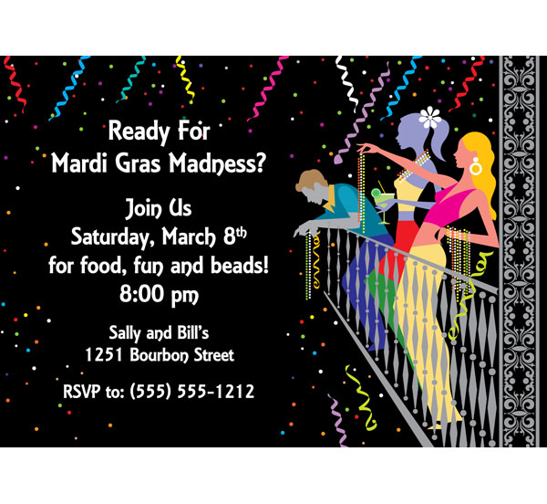 A Mardi Gras Balcony Invitation