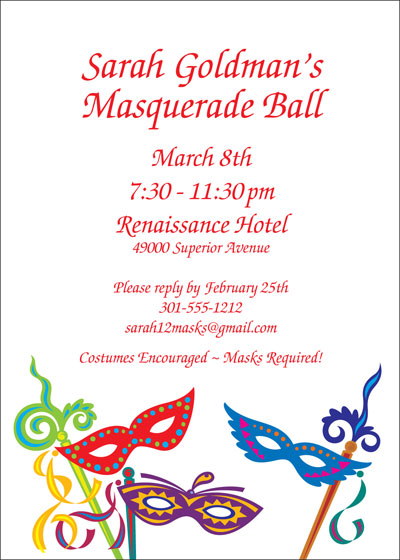 Mardi Gras Madness Invitation
