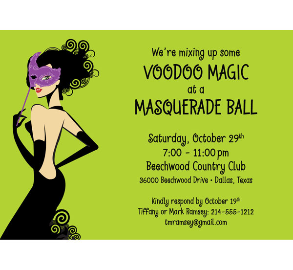 A Mardi Gras Voodoo Invitation