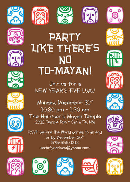 Mayan End of the World Invitation
