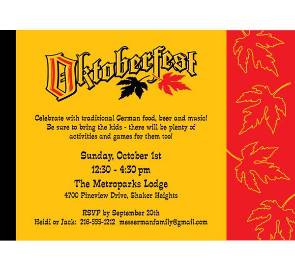 Oktoberfest Festival Invitation