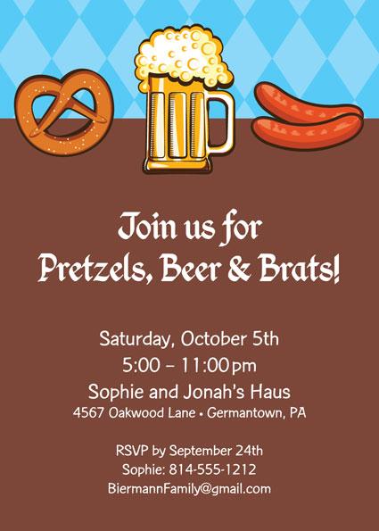 Oktoberfest Food Invitation