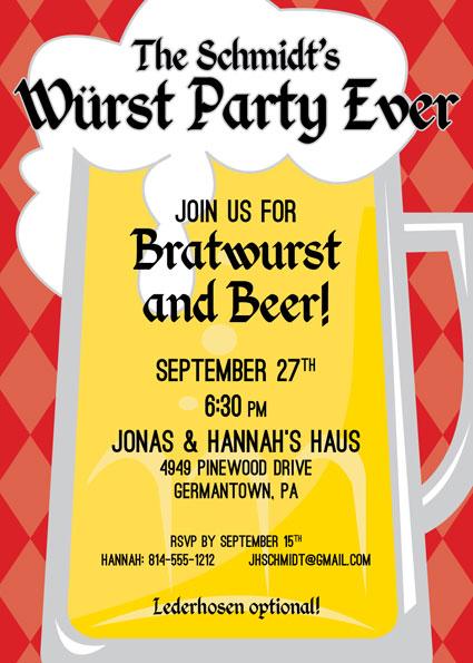 Oktoberfest Beer Invitation