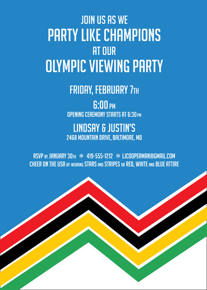 Winter Olympics Invitation
