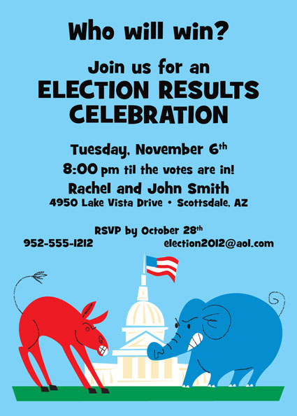 Patriotic Election Invitation