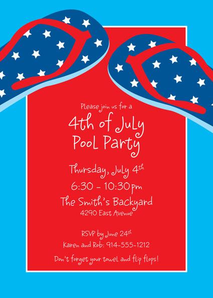 Patriotic Flip Flops Invitation