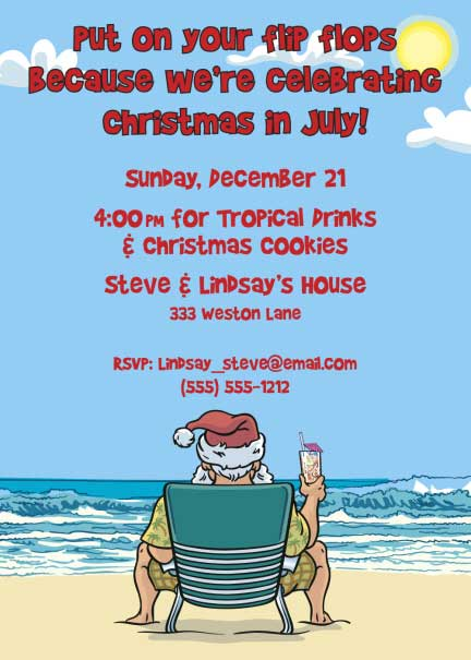 Christmas in July Invitation
