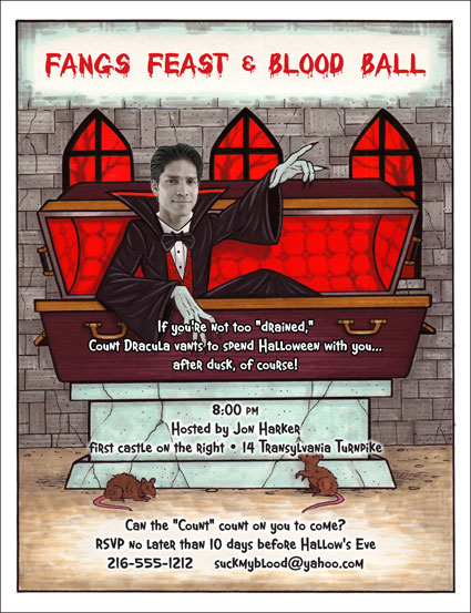 "Halloween ""Add a Face"" Invitation, Dracula"