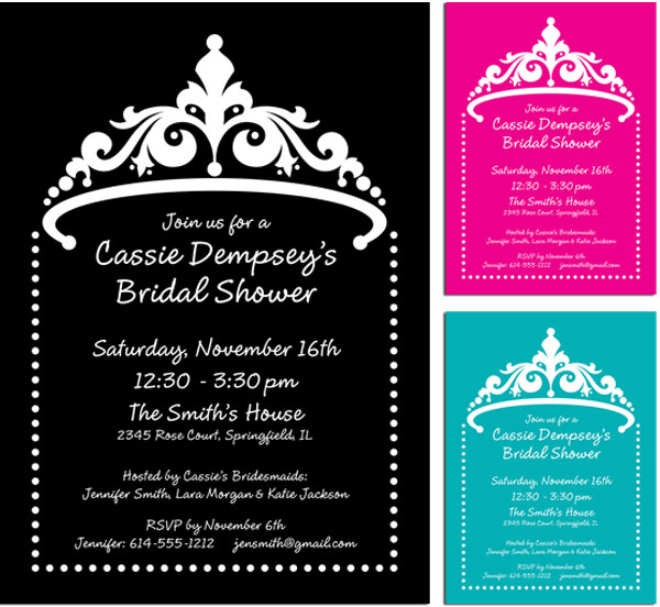 Tiara Shower Invitation