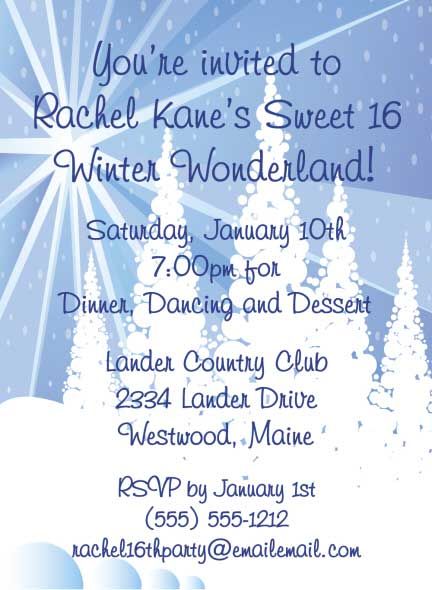 Winter Wonderland Invitation