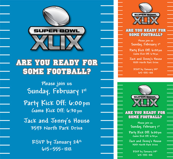 2015 Super Bowl XLIX Invitation
