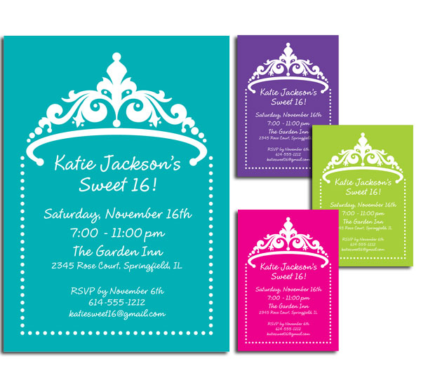Tiara Invitation