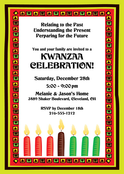 Kwanzaa Kinara Invitation