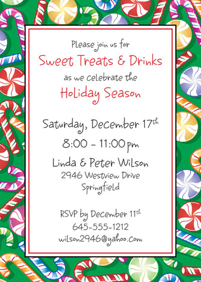 Christmas Candy Invitation