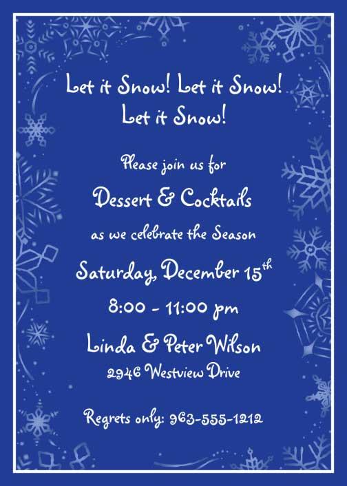Winter Theme Invitation