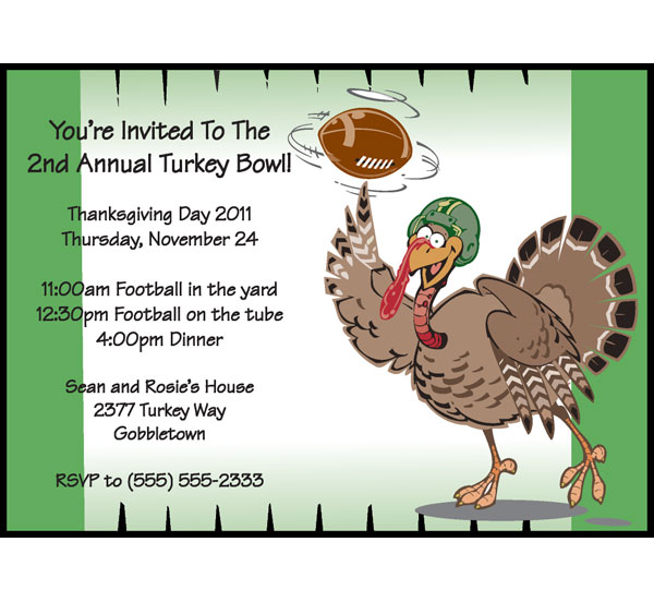 Thanksgiving Turkeybowl Invitation