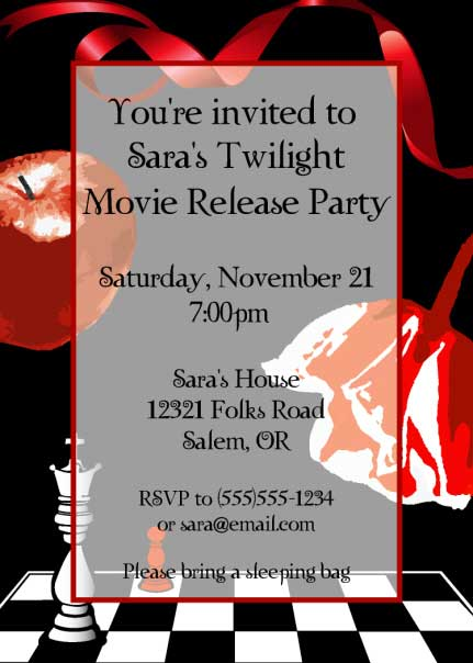Twilight Party Invitation