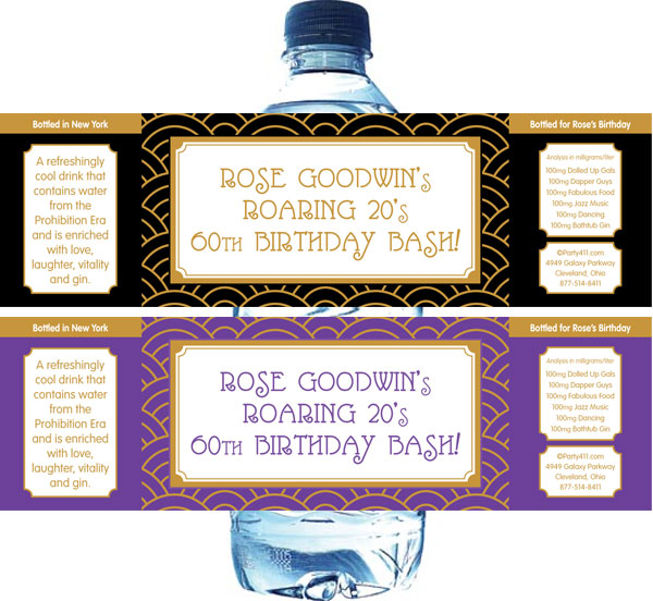 Art Decor Water Bottle Label