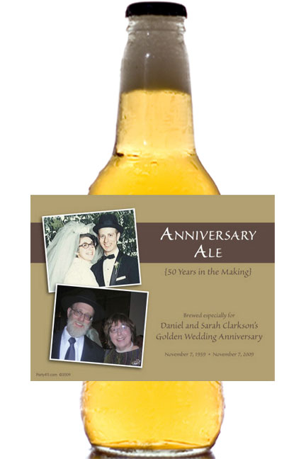 50th Anniversary Theme Bottle Label, Beer