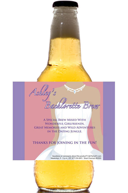 Bachelorette Party Beer Bottle Label