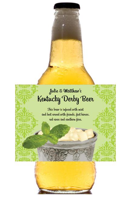 Kentucky Derby Julip Theme Bottle Label, Beer