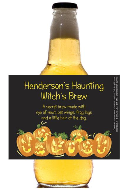 Halloween Fun Pumpkins Theme Beer Bottle Label