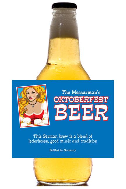 Oktoberfest Brew Theme Beer Bottle Label