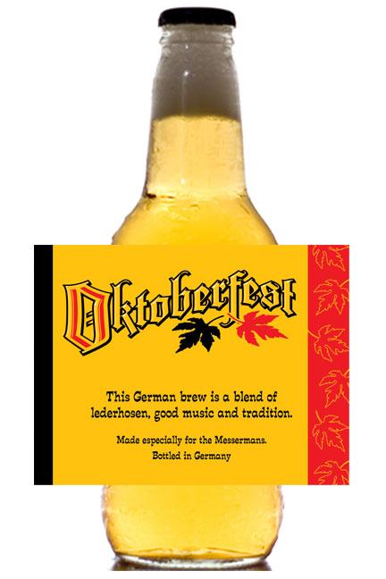 Oktoberfest Festival Theme Beer Bottle Label